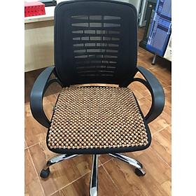 Chiếu lót ghế văn phòng hạt gỗ Hương tiện lợi hạt 12ly Mã H1 - Sản phẩm y hình , hình thật 100%
