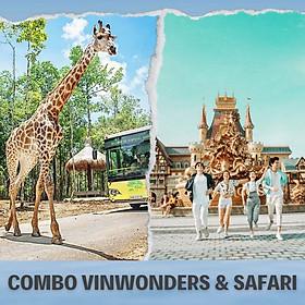 Combo Vé VinWonders Và Vé Vườn Thú Mở Vinpearl Safari Phú Quốc, Vui Chơi Trong 01 Ngày