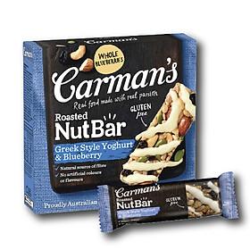 Thanh Hạt Carman's Nut Bar Greek Style Yoghurt, Blueberry - Sữa Chua Hy Lạp, Việt Quất - 160g