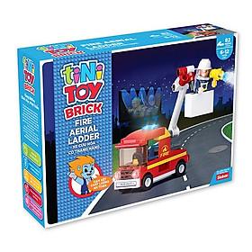 Đồ chơi lắp ráp xe cứu hỏa có thang nâng TINITOY (82 pcs) YY652970