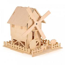 Hình đại diện sản phẩm Đồ chơi lắp ráp gỗ 3D mô hình nhà gỗ năng lượng mặt trời