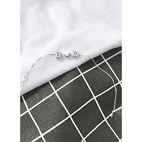 Lắc bạc I LOVE U -  Ngọc Quý Gemstones