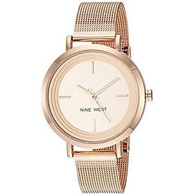 Nine West Women's NW/2146CHGP Gold-Tone Mesh Bracelet Watch