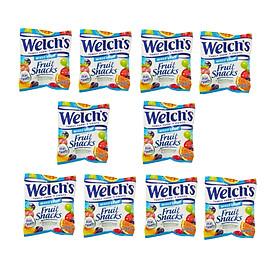 Combo 10 Gói Kẹo dẻo trái cây hỗn hợp - Welch's Mixed Fruit Snack (22,7g/gói)