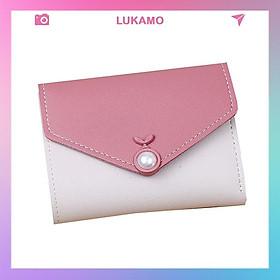 Ví nữ nhỏ nhiều ngăn cầm tay mini gấp 3 thời trang cute dễ thương giá rẻ LUKAMO VD82