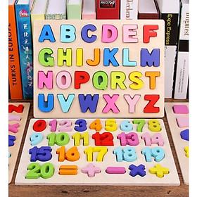 Combo Bảng Học Chữ Và Số Bằng Gỗ Dành Cho Bé