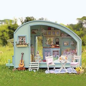 Mô hình nhà DIY Doll House Nhà gỗ Time Travel Kèm Đèn LED