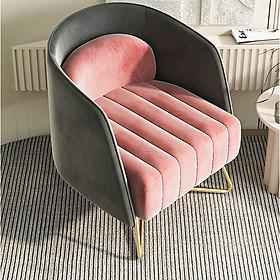 Sofa Đơn Đẹp Bọc Nhung Phong Cách Bắc Âu Đơn Giản Sang Trọng - Ghế Sofa Phòng Khách Ngồi Coffee Thư Giãn Nghỉ Ngơi