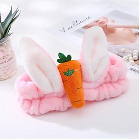 Băng đô turban tai thỏ cà rốt.Nhiều màu.XX037