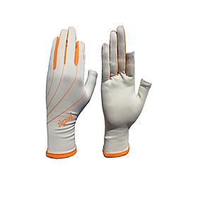 Găng tay hở ngón chống nắng UPF50+ kem cam Zigzag GLV00809