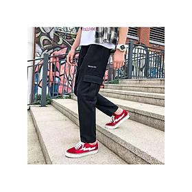 Quần jogger nam nữ túi hộp vải kaki ống suông thời trang dạo phố
