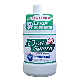 Nước súc miệng OralSplash 500ml không có chứa cồn nội địa Nhật Bản