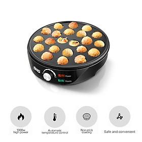 Takoyaki Maker Ebelskiver Maker Electric Takoyaki Pan Stuffed Pancake Pan Munk Aebleskiver Pan with 22 Takoyaki Holes