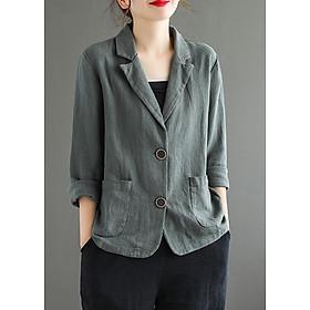 Áo Brazer nữ dáng suông 1 lớp ArcticHunter, vải thô mềm, thời trang phong cách Nhật Bản