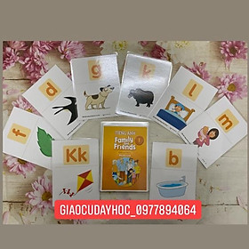 Flashcards Tiếng Anh Family and Friends national 1 ép plastics bền đẹp