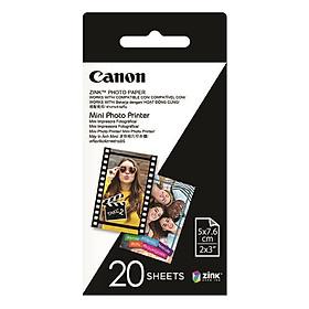 Giấy In Ảnh ZP-2030 Zink Dành Cho Máy Canon Mini Photo Printer PV-123 - Hàng Chính Hãng