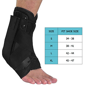 Ankle Stabilizer Brace Support Sports Safety Stirrup Compression Strap for Ankle Sprains Injuries Strains-7