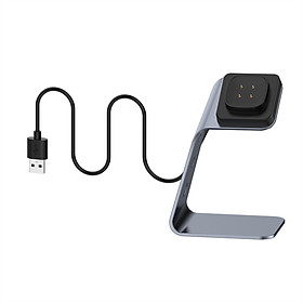 Magnetic Charger Dock Compatible with Fitbit Sense/Versa 3 Charger Stand Charging Cable Dock Station Base Cradle