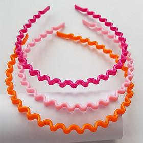 Combo 3 bờm bé gái nhựa màu đáng yêu (Giao màu ngẫu nhiên)