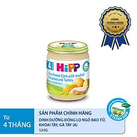 Dinh dưỡng đóng lọ ăn dặm Ngô bao tử, khoai tây, gà tây HiPP Organic 125g