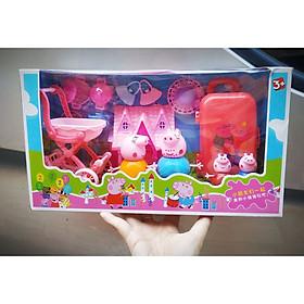 Bộ đồ chơi phụ kiện bổ sung chủ đề đi du lịch (tặng bộ nấu ăn đi kèm) cho trò chơi hoạt cảnh của gia đình heo Peppa và những người bạn