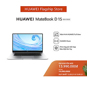 Laptop Huawei Matebook D 15 (8GB/256GB) - Hàng Phân Phối Chính Hãng