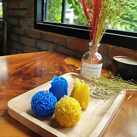 Set 4 Nến thơm tinh dầu hoa hồng hình bông hoa hồng 30g - giúp thư giãn, giảm stress, thơm phòng- Rore Essential Oil Candle (Giao màu ngẫu nhiên)