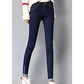 Quần nữ Khoe dáng thon thả cùng jean dài bó ống siêu xinh - 115-Xanh