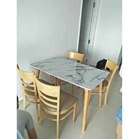 bàn ăn cabin giả đá 4 ghế