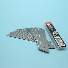 Bộ 5 Hộp 10 lưỡi dao rọc giấy thép SK5 khổ lớn 100x18x0.5mm SDI 1404