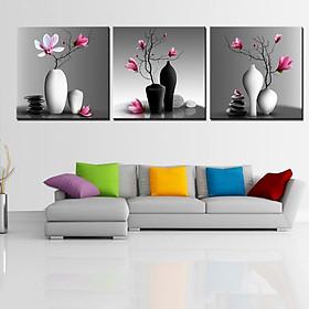 Tranh Canvas treo tường nghệ thuật | Tranh bộ nghệ thuật 3 bức | HLB_209