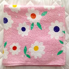 Khăn tắm hình họa tiết ngẫu nhiên - Tặng kèm 01 khăn quấn tóc