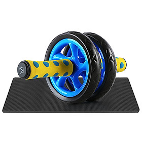 Quiet Abdominal Roller Wheel with Protective Knee Pad Fitness AB Wheel Abdominal Exercise Roller-0