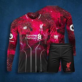 Áo Bóng Đá Độc Lạ Dài Tay - CLB Liverpool Galaxy