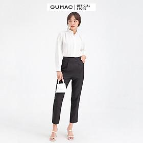 Quần tây nữ cơ bản xếp ly GUMAC QB605