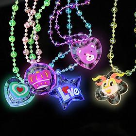 Dây chuyền đính hạt nhựa phát sáng, dây chuyền đeo thẻ