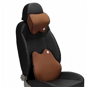 Bộ gối tựa đầu và tựa lưng xe hơi, ô tô chất liệu cao su non hoạt tính cao cấp V1