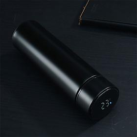 Bình giữ nhiệt đèn Led cảm biến giữ nhiệt 24h chất liệu Inox 304 cao cấp sang trọng dung tích 480ml màu đen chìm quý phái tinh tế
