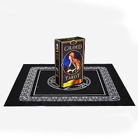 Combo Bộ Bài Bói The Gilded Tarot New và Khăn Trải Bàn Tarot