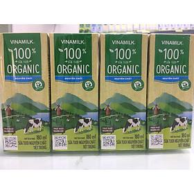 Thùng 48 Hộp Sữa Tươi Tiệt Trùng Vinamilk 100% Organic Không Đường 12 lốcx180ml-Mẫu mã mới