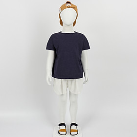 Set bộ quần áo trẻ em cộc tay cotton nhẹ mát kiểu đơn giản dễ thương - Nhập khẩu Hàn Quốc