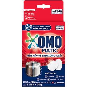 Hộp 4 Viên Nén Vệ Sinh Lồng Giặt OMO Matic 80gr