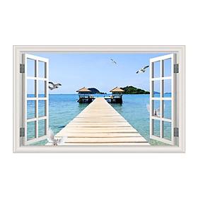 Tranh Dán Cửa Sổ Phong Cảnh 3D CS0264 (150 x 100 cm)