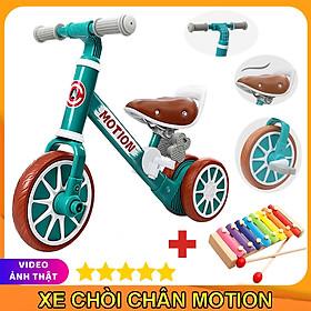 Xe chòi chân thăng bằng cho bé MOTION, có bàn đạp 2in1 yên bằng da, khung xe chắc chắn – TẶNG KÈM ĐÀN XYLOPHONE 8 THANH CHO BÉ, xe tập đi, xe 3 bánh,xe thăng bằng