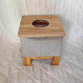 Ghế gỗ xông hơi vùng kín có lớp bọc cách nhiệt - Tặng kèm 01 gói thảo dược xông hơi vùng kín