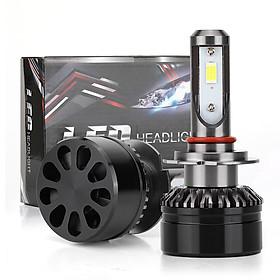 1pair Car EV6 Mini LED Lamp H7 6000K White Headlights Replacement Bulb for RV SUV MPV Car