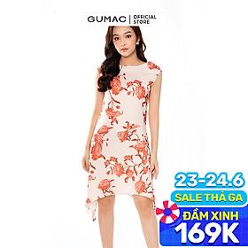 Đầm dáng suông nữ kiểu sa vạt sườn sang trọng GUMAC DB4202