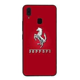 Ốp lưng dành cho điện thoại Vivo Y91 in họa tiết Logo F E R R A R I