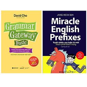 Combo Sách Học Tiếng Anh : Hackers Grammar Gateway Basic + Miracle English Prefixes - Tuyệt Chiêu Suy Luận Từ Mới Bách Phát Bách Trúng