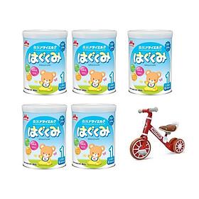 5 hộp sữa Morinaga Hagukumi (850g)  - Tặng Xe chòi chân thăng bằng cho bé có bàn đạp